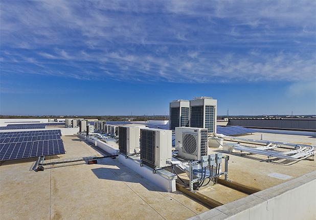 家园橡树公寓屋顶空调机组